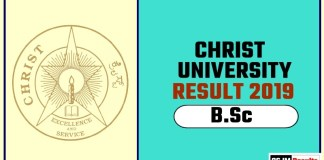 Christ University BSc 1st 2nd 3rd Year Result 2019