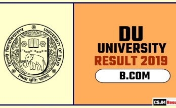 DU BCOM 1st 2nd 3rd Year Result 2019 Delhi University
