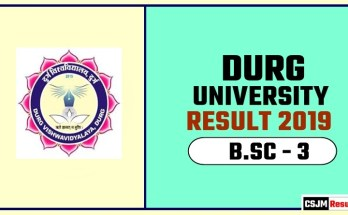 Durg University BSC 3rd Year Result 2019