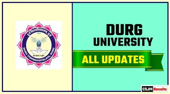 Durg University Result Time Table Admit Card Admission