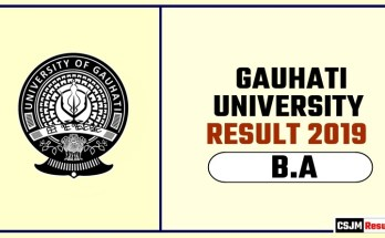 Gauhati University BA 1st 2nd 3rd Year Result 2019