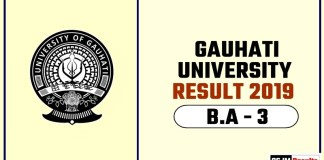 Gauhati University BA 3rd Year Result 2019