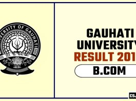 Gauhati University BCOM 1st 2nd 3rd Year Result 2019