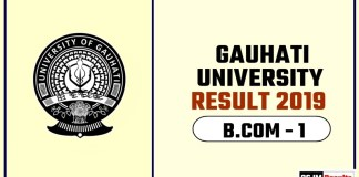 Gauhati University BCOM 1st Year Result 2019