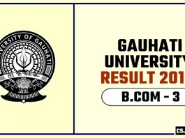 Gauhati University BCOM 3rd Year Result 2019