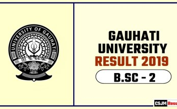 Gauhati University BSC 2nd Year Result 2019