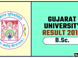 Gujarat University BSc 1st 2nd 3rd Year Result 2019