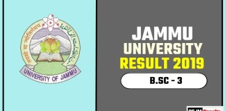 Jammu University BSC 3rd Year Result 2019