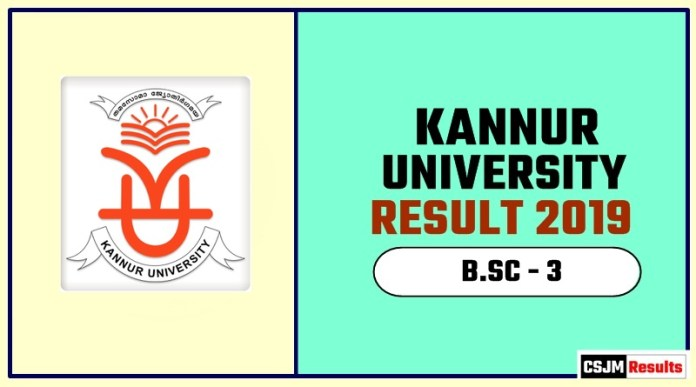 Kannur University BSC 3rd Year Result 2019