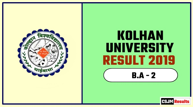 Kolhan University B A 2nd Year Result 2019 - CSJM Results