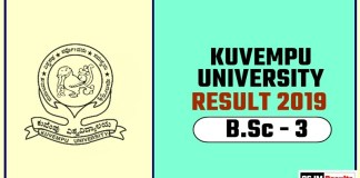 Kuvempu University BSc 3rd Year Result 2019