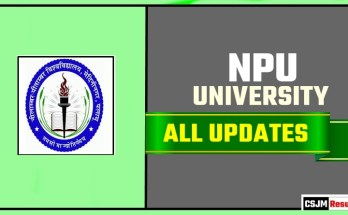 NPU Result Time Table Admit Card Admission