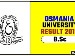 Osmania University BSc 1st 2nd 3rd Year Result 2019
