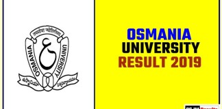 Osmania University Result 2019 BA BSc BCom