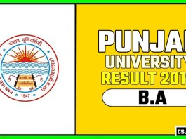 PUCHD BA 1st 2nd 3rd Year Result 2019 Pujab University