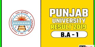 PUCHD BA 1st Year Result 2019 Pujab University