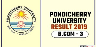 Pondicherry University BCOM 3rd Year Result 2019