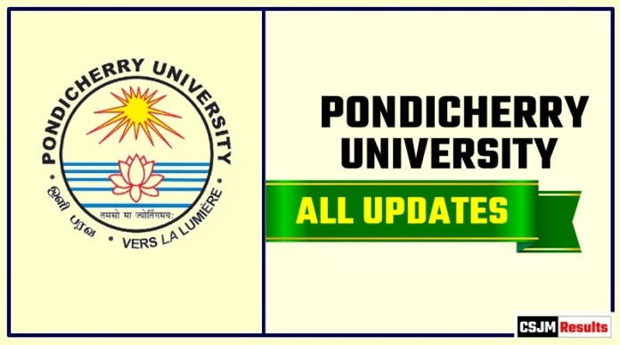 Pondicherry University Result Time Table Admit Card Admission
