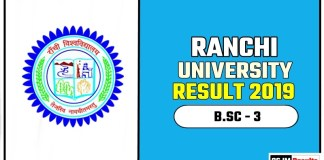 Ranchi University BSC 3rd Year Result 2019