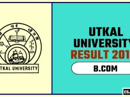 Utkal University BCOM 1st 2nd 3rd Year Result 2019