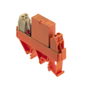 Relay module, soldered relay, 12 V DC ±10 %, red LED, Free-wheeling diode, Reverse polarity protection, 1 NO contact (AgNi 0.15 gold flashed) , 250 V