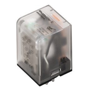 Industrial relay, 220 V DC, Green LED, 2 CO contact (AgNi) , 250 V AC, 10 A