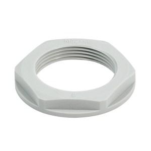 Locknut for cable gland (plastic), SKMU PA (plastic locknut), M 20, 6 mm, Polyamid 6 (PA6 - GF30)