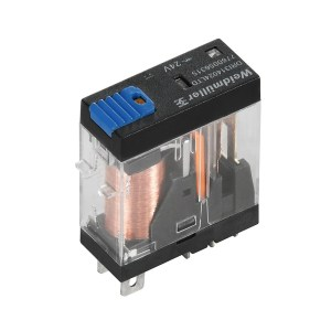 Miniature industrial relay, 110 V DC, Green LED, Free-wheeling diode, 1 CO contact with test button (AgNi) , 250 V AC, 10 A