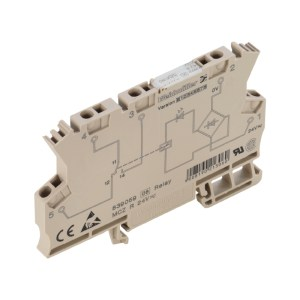 Relay module, for railway applications, 48 V…110 V DC +25 % / -30 %, Green LED, Free-wheeling diode, Varistor, Reverse polarity protection, 1 CO conta