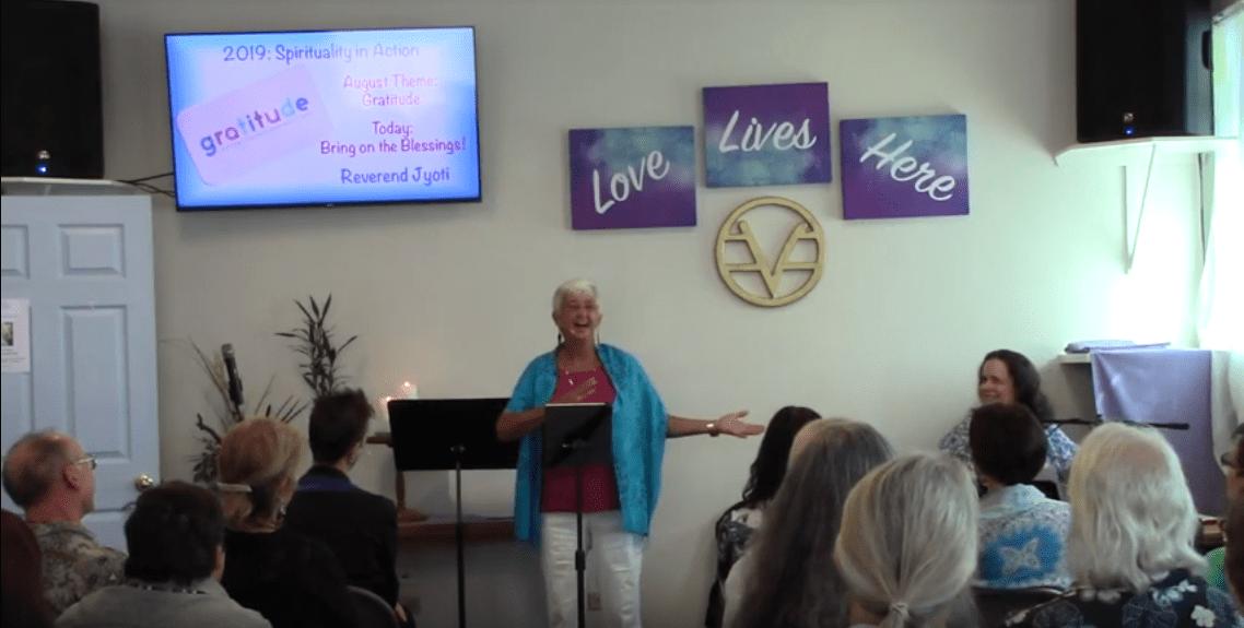 Rev. Jyoti delivers Sunday Message