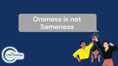 Oneness is not Sameness