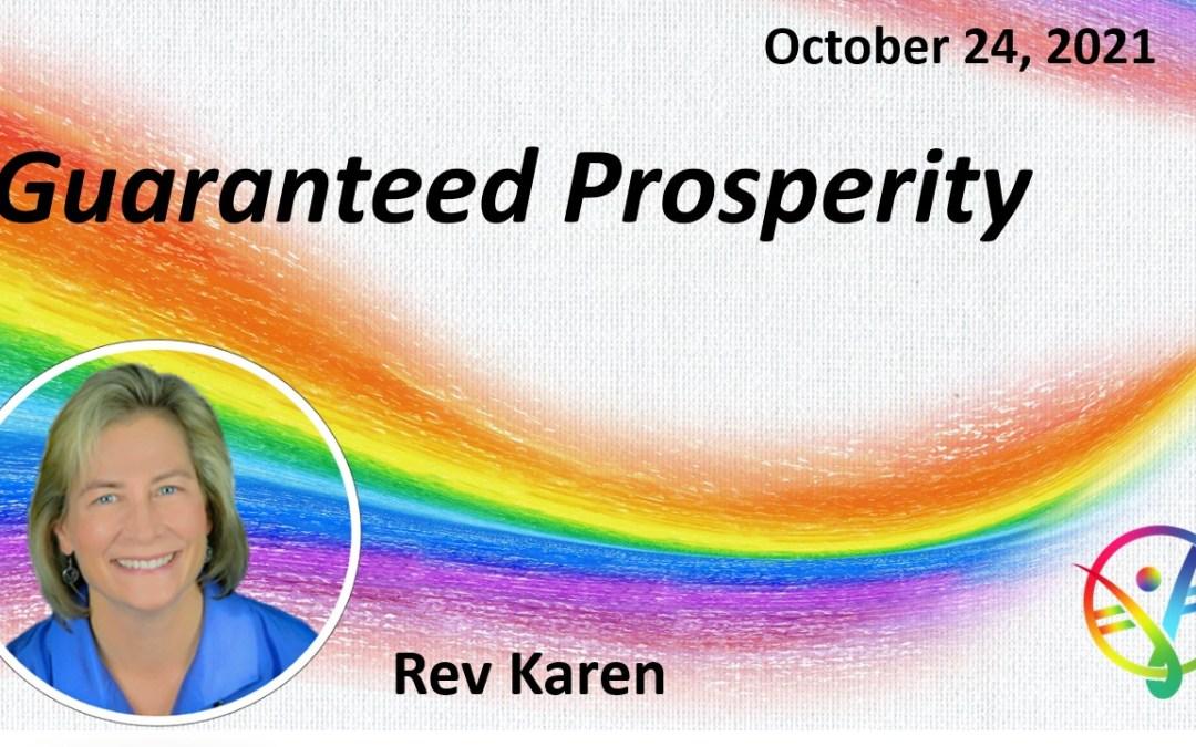 Guaranteed Prosperity – Talk Only