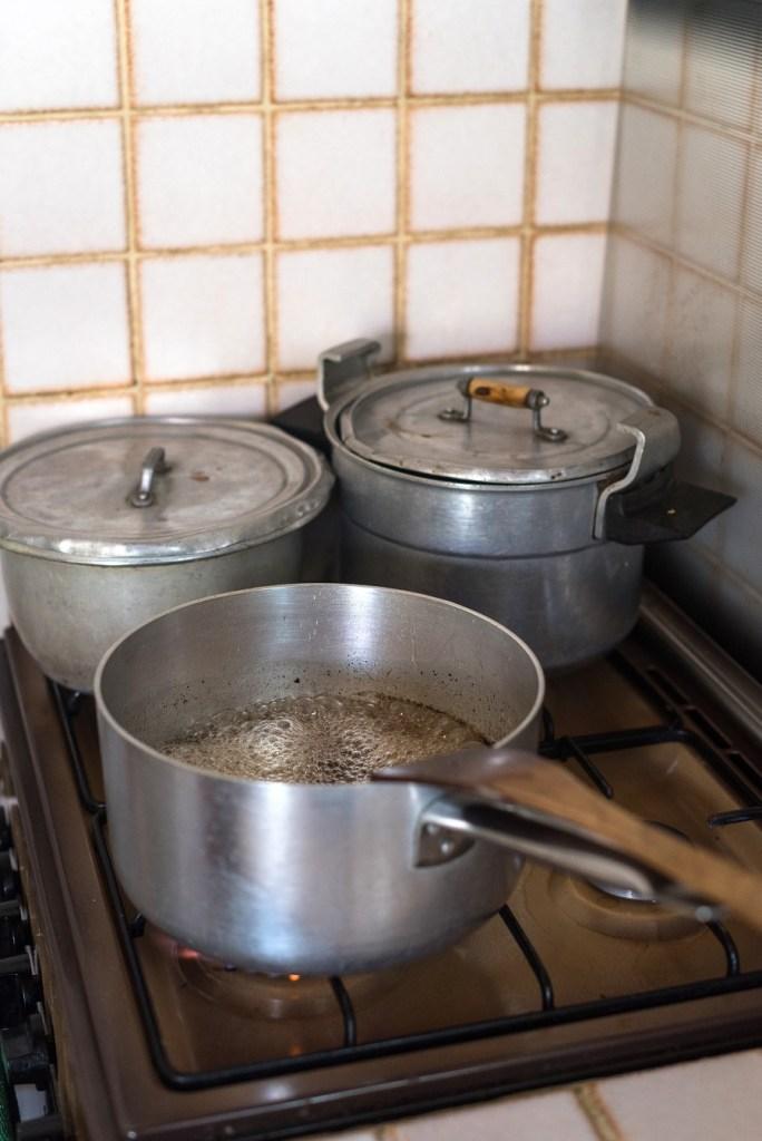 Cuisson sirop - préparation schrub