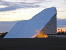 (Photo courtesy of U.S. Air Force.) The AN/FPS-85 Phased Array Radar is located at Eglin Air Force Base, Fla.  The only one of its kind radar tracks approximately 18,000 near-Earth and deep-space, man-made objects as part of the space situational network.