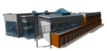 (Photo courtesy of the National Security Space Institute)  Preliminary design of the National Security Space Institute's new building that will be located at Peterson Air Force Base in November 2011. The move is prompted by mission expansion, and outgrowing the present facility.