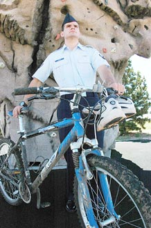 Cory Marion, the Schriever Athlete of the Quarter for the second quarter of 2009, placed second in the base Duathlon June 8 and was the youngest competitor to complete the 60-mile Adventure Xstream race course in May.