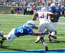 The Falcons downed Nicholls State 72-0 in the Air Force's first home game. Photo by Rachel Boettcher