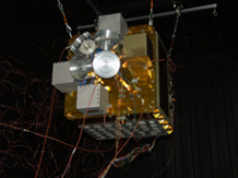 The Air Force Academy's FalconSAT-3, pictured here, and the Department of Energy's experimental Cibola satellite both launched aboard an Atlas V from Cape Canaveral Air Force Station, Fla., March 8, 2007. Courtesy Photo