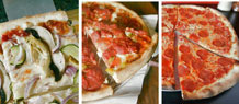 California-, Chicago- and New York-style pizza all have their backers. Photos by John Gibbins and Peggy Peattie.