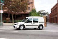 Ford's Transit Connect work van has surprising refinement and drivability. It can be ordered with two, four or five seats, and the back seats flip and fold for added cargo space. Photo courtesy of Ford.