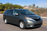 The 2011 Toyota Sienna minivan ranges in price from $25,060 for with four-cylinder engine to $39,770 for the Limited all-wheel-drive V-6 and up to almost $46,000 with the Premium option package. Photo courtesy of Dewhurst Photography.