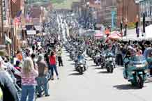 More than 5,000 motorcyclists ride into Cripple Creek to show their support to American veterans during the 23rd annual recognition ride Saturday. The riders created a column that stretched for approximately nine miles as they traveled from Woodland Park to Cripple Creek.