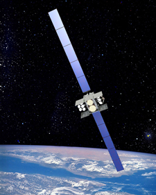 Courtesy graphic An artist's rendition of a Wideband Global SATCOM satellite on orbit. The 3rd Space Operations Squadron is in the process of optimizing the WGS and Defense Satellite Communications System constellations.
