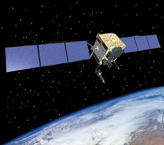 U.S. Air Force graphic GPS IIF satellite
