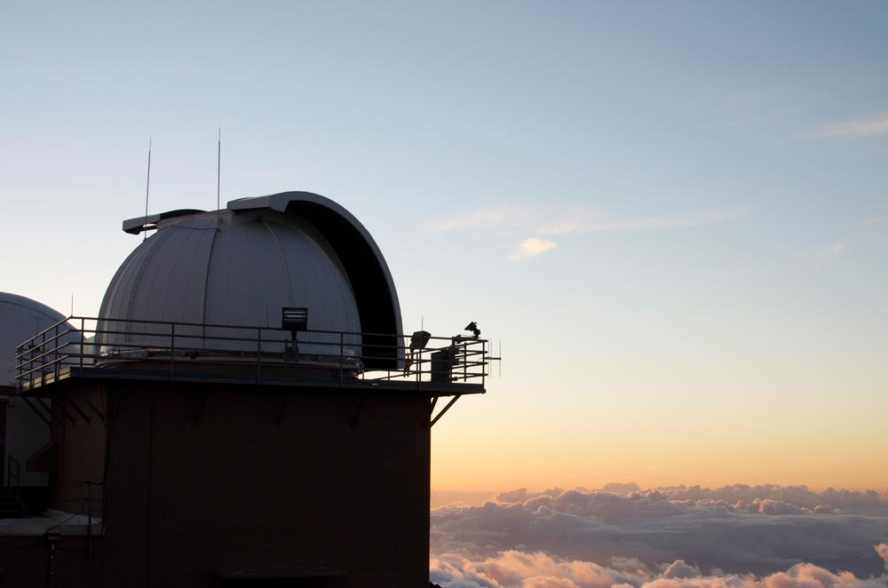 MT. HALEAKALA, MAUI, HAWAII  —  Ground-based Electro-Optical Deep Space Surveillance systems are housed in domes like this one at Detachment 3, 20th Space Control Squadron on the island of Maui, Hawaii. Cadets from the United States Air Force Academy are working with the 21st Operations Group to determine if operating parameters for keeping dome shutters open during inclement weather can be expanded.