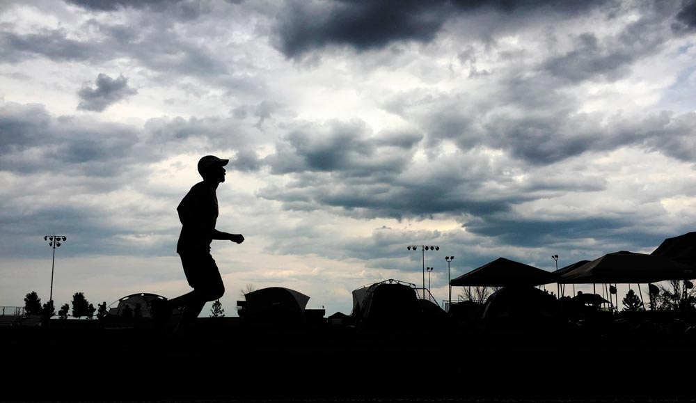 Eleven teams participate in Schriever Challenge at Schriever Air Force Base, Colorado, Aug. 18-19, 2016. The event challenged Team Schriever to complete a 24-hour run and walk relay with the hopes of raising funds for the Rocky Mountain Fisher House.
