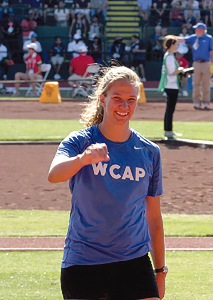 (Courtesy photo) Capt. Paige Blackburn, a civil engineer with the 8th Civil Engineer Squadron at Kunsan Air Base, Republic of Korea, was named the U.S. Air Force Female Athlete of the Year. Blackburn, a discus and javelin thrower, was a member of the World Class Athlete Program from March 2015-August 2016.