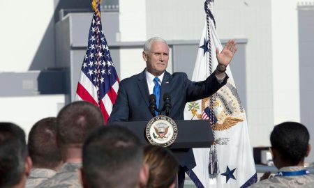 Cape Canaveral, Fla. — Vice President Mike Pence visited NASA facilities and met airmen with the 45th Space Wing in Cape Canaveral, Fla., Dec. 18, 2018.