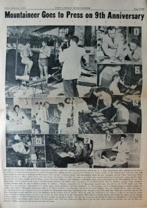 An excerpt from the September 7, 1951 Camp Carson Mountaineer.