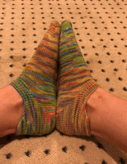 Free Heel Tab No Show Sock Pattern 1